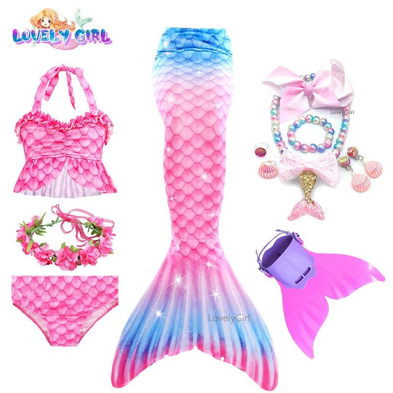 LovelyGirl Mermaid Tails Bikini Mermaid Costumes Kids Mermaid Dress Girl Mermaid Party Cosplay Costu