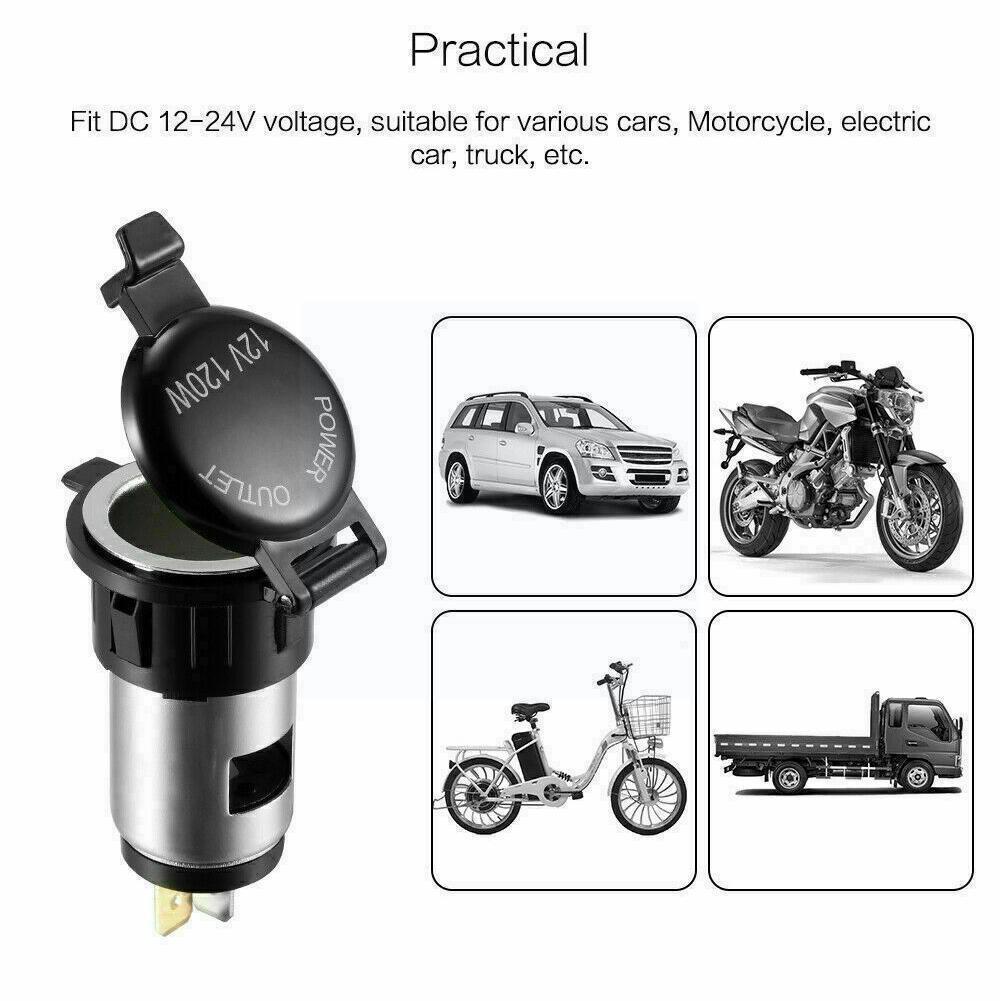 12V Car Cigarette Cigar Lighter Socket Charger Power Outlet Supply Waterproof X6V8