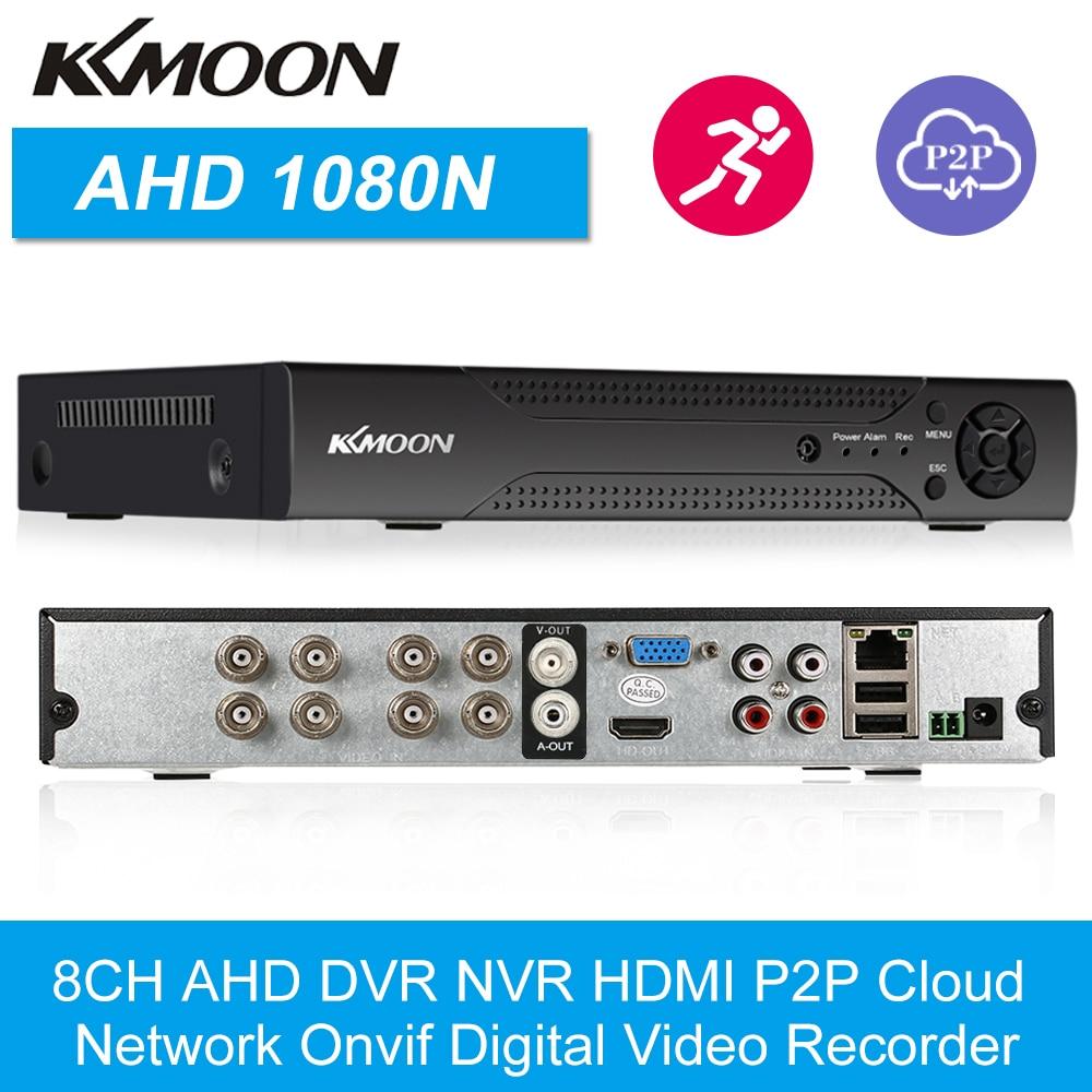 Grabadora de vídeo Digital KKmoon 8CH 1080P Hybrid NVR AHD TVI CVI DVR 5 en 1, grabadora de vídeo Digital P2P de red en la nube Onvif
