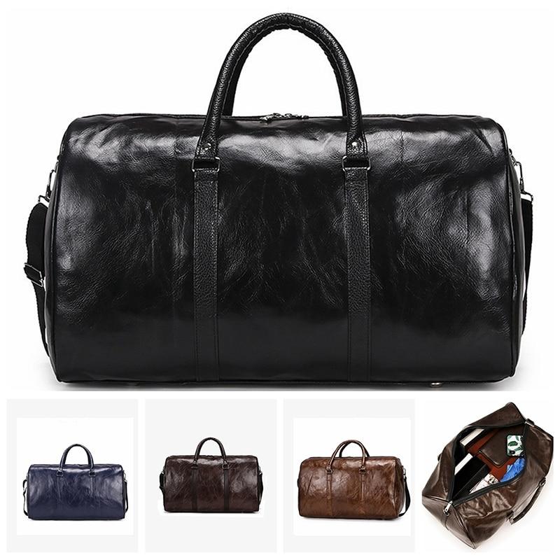 AliExpress - Leather Travel Bag Large Duffle Independent Big Fitness Bags Handbag Bag Luggage Shoulder Bag Black Men Fashion Zipper Pu