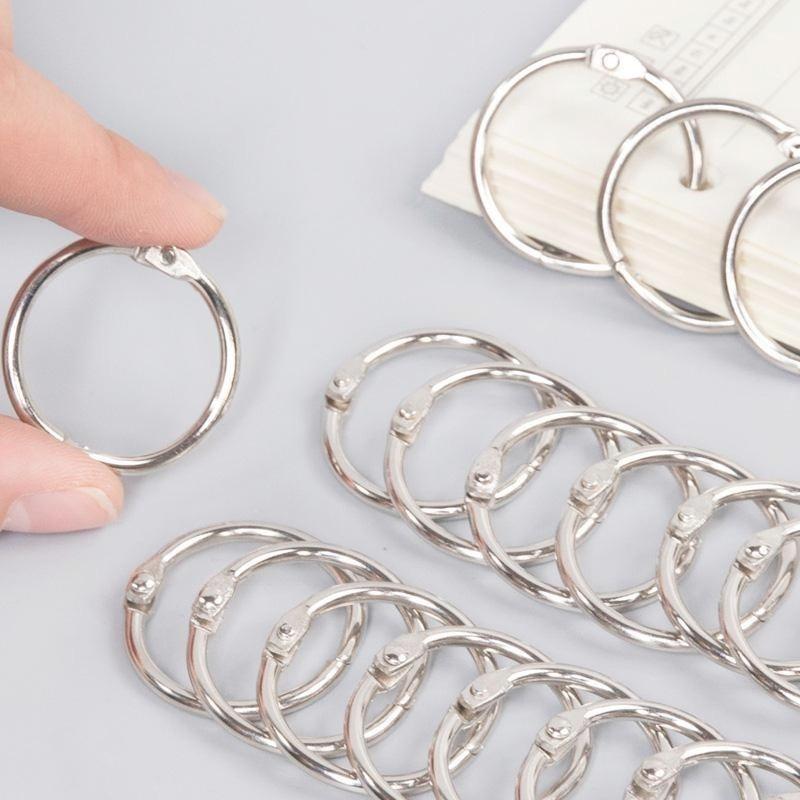 3PCS 76MM stainless steel binding iron ring iron ring card ring book ring book ring opening ring key ring sundries ring недорого