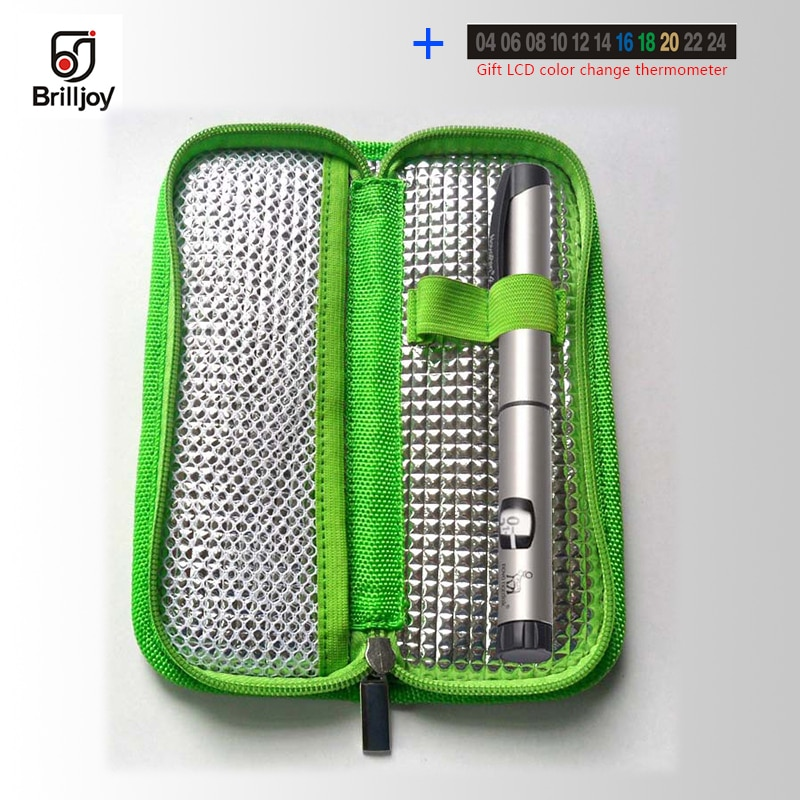 Bolsa enfriadora de insulina Brilljoy, portátil, bolsa para diabéticos, bolsa enfriadora de insulina, bolsa de refrigeración de aislamiento térmico, bolsas de viaje