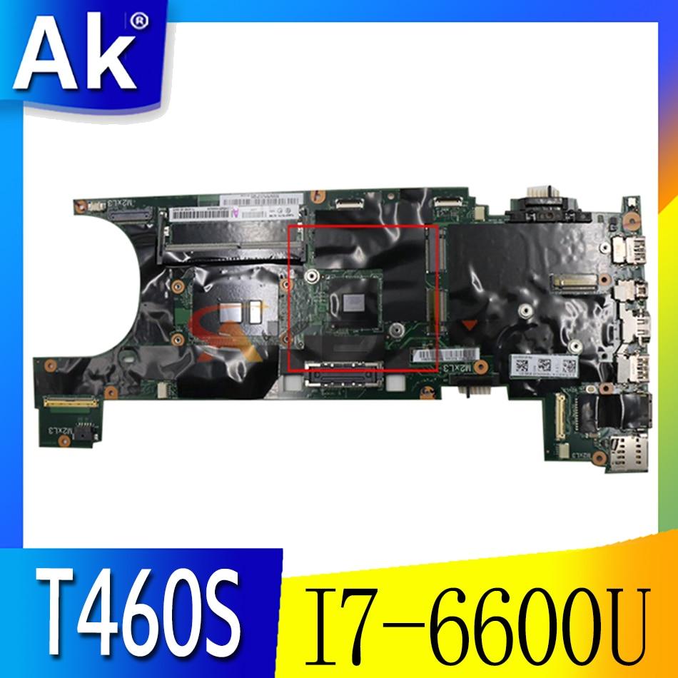 Akemy FRU 01AY032 00JT966 لينوفو ثينك باد T460S دفتر اللوحة BT460 NM-A421 وحدة المعالجة المركزية I7 6600U GPU GT930 8GB RAM 100% اختبار