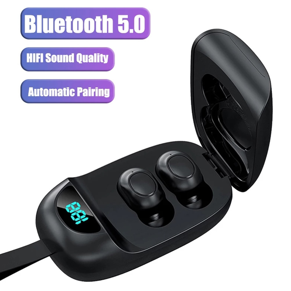 TWS Bluetooth 5.0 Earphones JS25 Wireless Earbuds In Ear Earbuds Sports Waterproof Earphone Stereo E