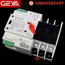 GEYA W2R-3Pole Din Rail Mounted Automatic Transfer Switch Three Phase ATS 100A Power Transfer Switch