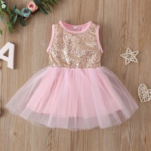 Toddler Kids Baby Girls Sequin Tutu Princess Party Dress Clothes Outfits vetement fille ropa niña m