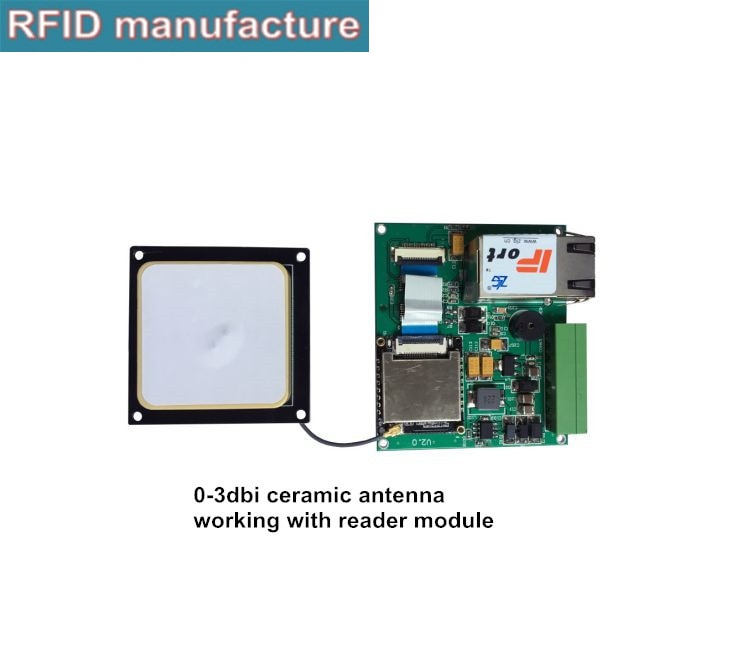 long range 860~960 MHz 1dBi Circular Polarization UHF RFID Passive Ceramic Antenna with iPEX, SMA Connector used vehicle access