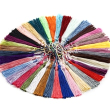 30pcs/lot Hanging rope 70mm Silk Tassel Fringe Pendant For DIY Earrings Necklaces Jewelry Making Fin