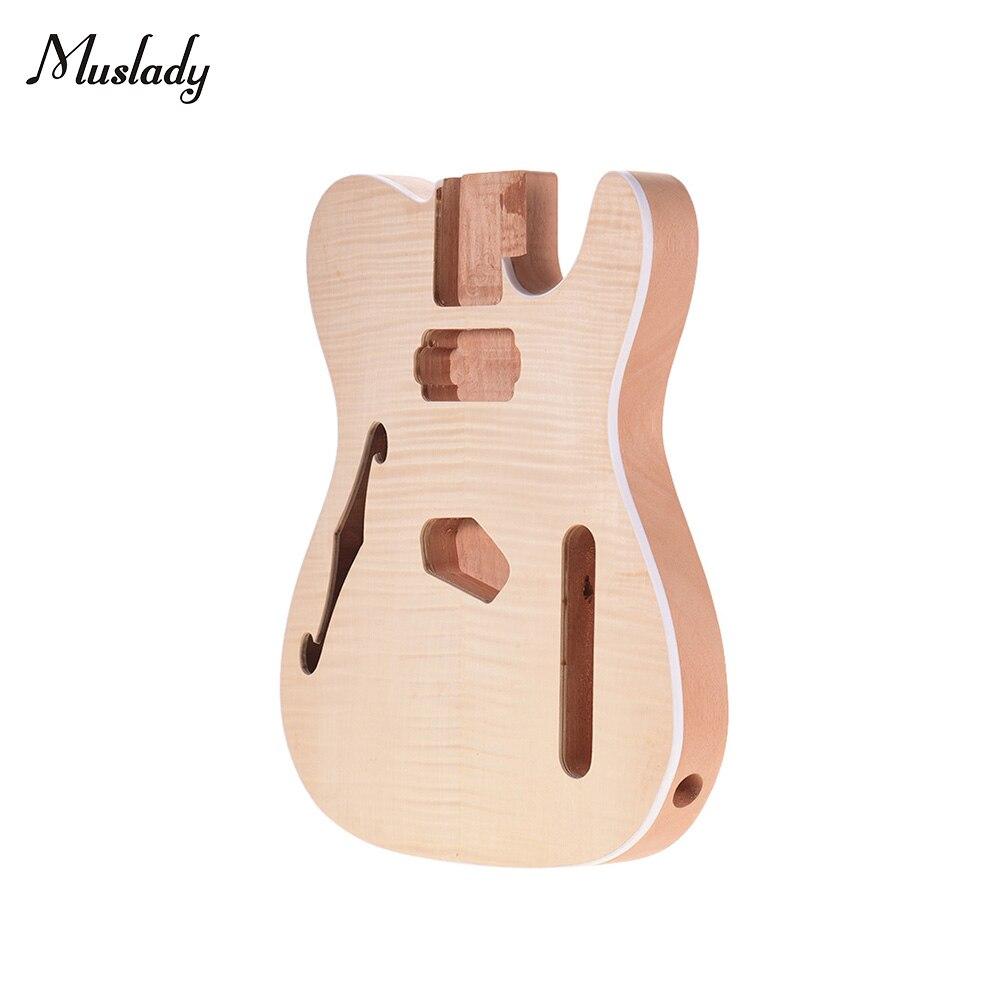Muslady TL-FT03 незавершенная гитара Корпус из красного дерева пустой корпус гитары для TELE Style электрические гитары DIY части