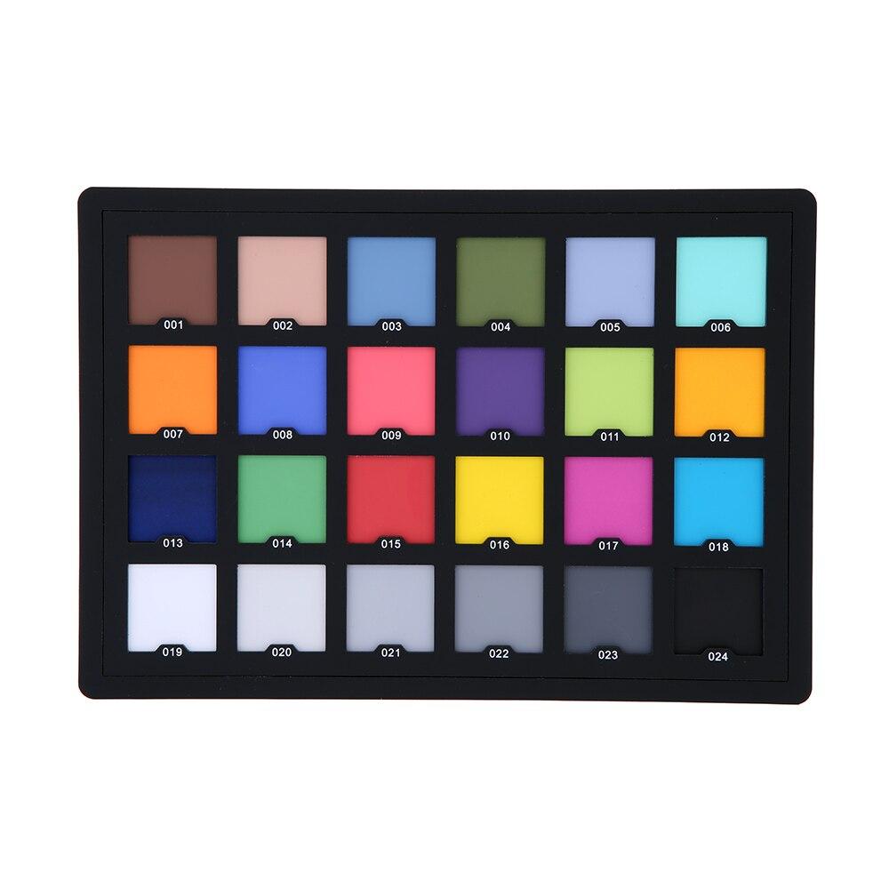 Tablero de paleta profesional de 24 colores, prueba de tarjeta para corrección de Color Digital Superior para equilibrar el Software de edición de fotos