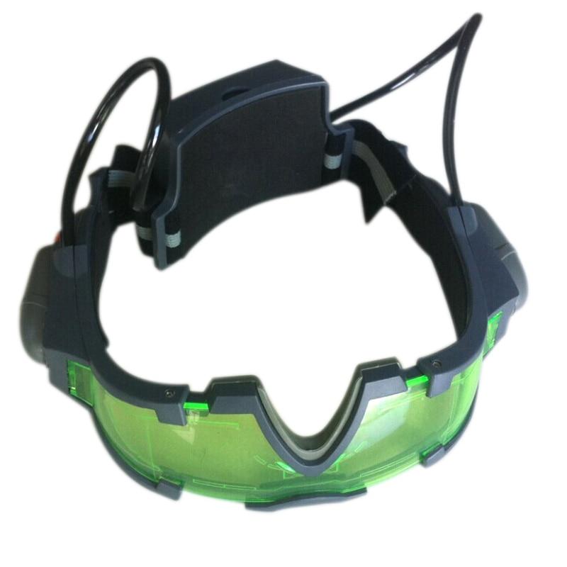 Gafas de visión nocturna con cristales tintados verdes, luces LED para accesorio de juego al aire libre, regalo FEA889