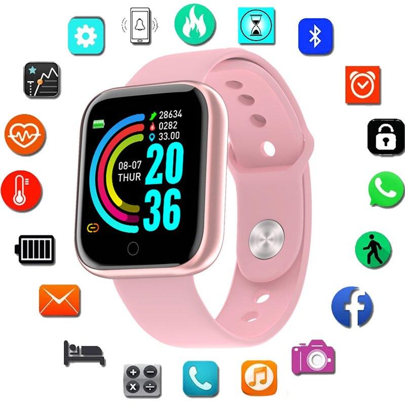 الأطفال ساعة تعقب اللياقة البدنية معدل ضربات القلب ساعة ذكية مراقبة النوم ساعات المعصم الرقمية الإناث الاطفال الساعات Andriod Ios