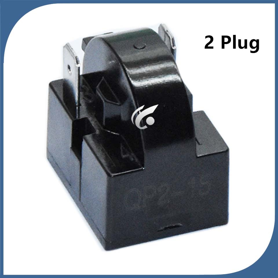 1pcs new for Refrigerator fittings Refrigerator freezer PTC starter thermal protector relay 2 Plug QP2-12 QP2-22 QP2-33 QP2-15