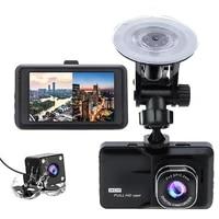 4 ips dual lens car dvr dashcam fhd 1080p dashboard camera 170 degree vehicle recorder g sensor parking monitor registrars