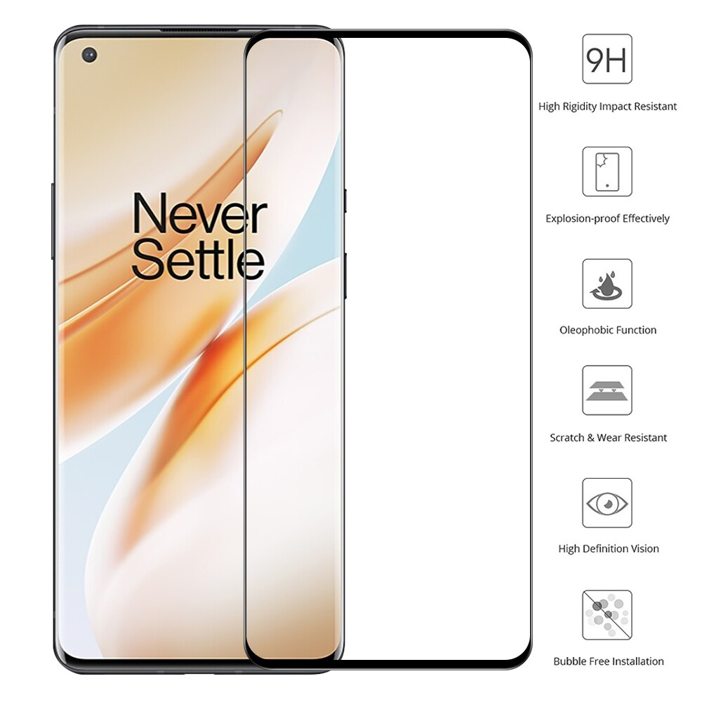 Curved Tempered Glass for Oneplus 9 Pro Screen Protector HD Protective Glass For Oneplus 9 Pro 8T 8
