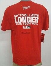Milwaukee mon outil dure plus longtemps que votre outil T-Shirt homme rouge nouveau