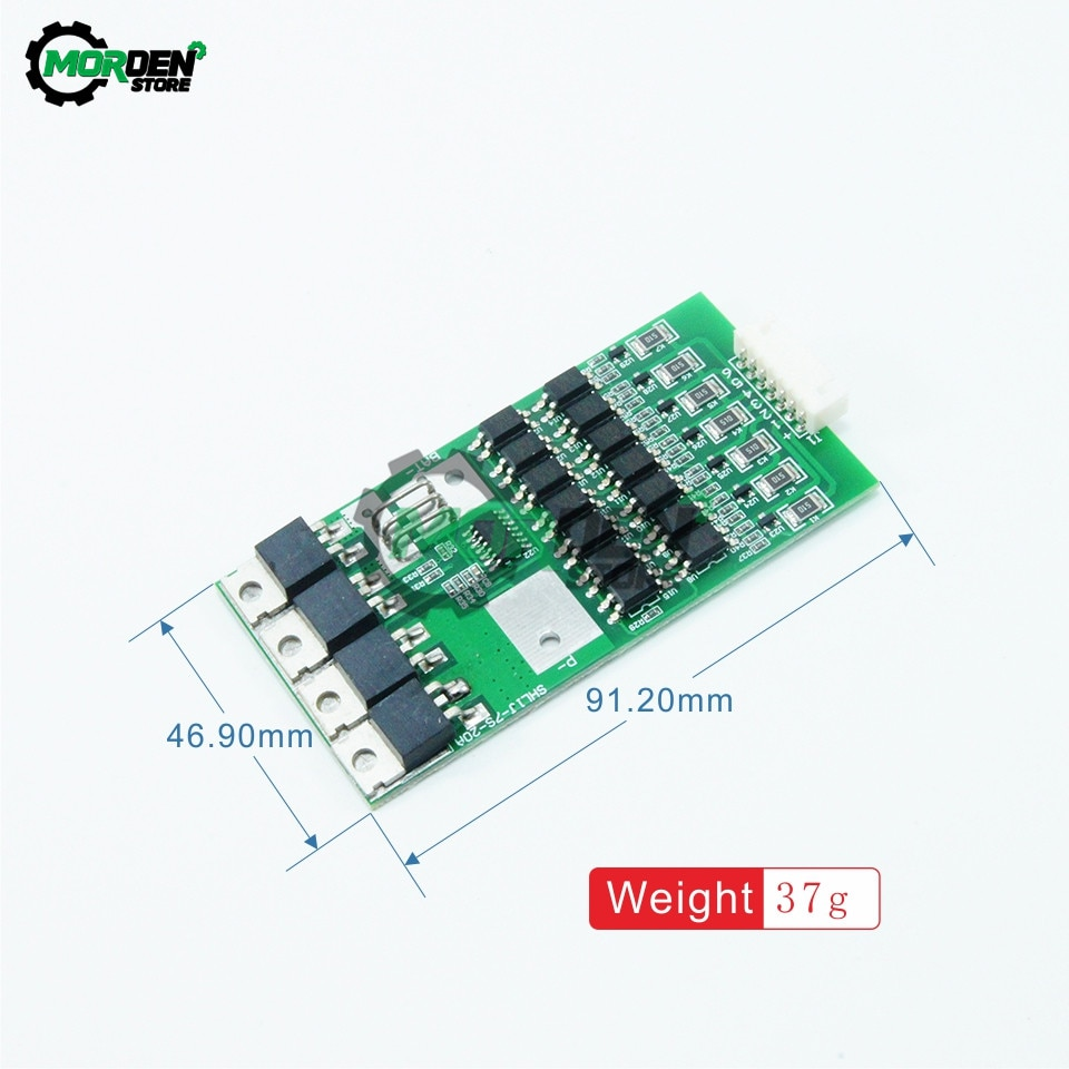 Dropship BMS 7S Li-ion Lithium 18650 Battery Protection Board 24V 20A Balancer With Matching Cable Function