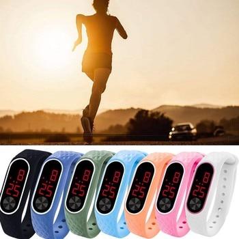 Digital Sports Watches Relogio Fashion Unisex Reloj LED Silicone Bracelet Electronic Running Wristwatch Life Waterproof 40 *
