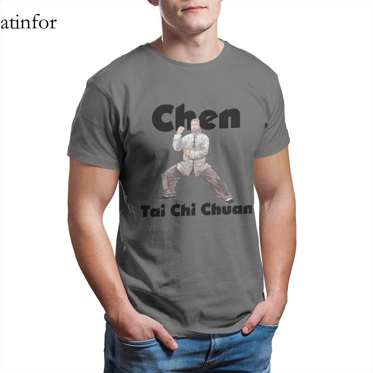 Чэнь тайцзицюань футболка забавные панковские топы, светящиеся в темноте, 4XL 5XL 6XL круглый вырез горловины для мужчин костюмы 17419|Футболки| | АлиЭкспресс