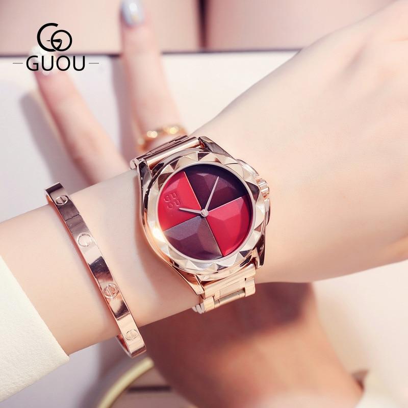Watch Women Top Brand Luxury Designer Steel Strap Unique Dial Fashion Water Resistant  Ladies Watch Reloj Mujer Gift for Women enlarge