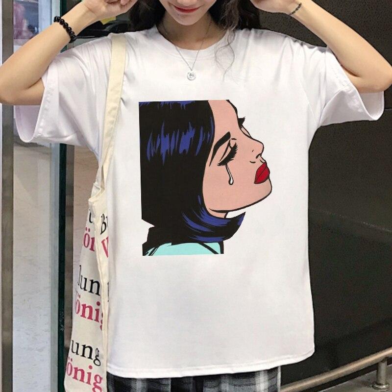 Женская футболка 2020 летняя Корейская Новая модная женская Футболка Harajuku Топ футболки короткий свободный рукав футболка для женщин одежда