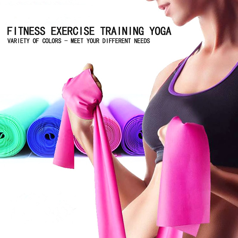Bandas elásticas de resistencia plegables para ejercicio, banda de goma para ejercicio, equipo de entrenamiento de fuerza para tirar de la cuerda