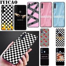Plaid Checked Checkerboard Art Soft Silicone Case for Samsung Galaxy J6 A9 A8 A7 A6 Plus 2018 A5 A3 2016 2017 Phone Cover