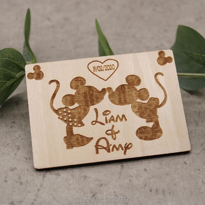 Imanes de Mickey y Minnie Mouse-novia, novio, regalo, imanes de boda, guardar los imanes de Fecha