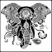 50 50cm size diy craft animal elephant mold for painting stencils stamped photo album embossed paper card on wood fabricwall