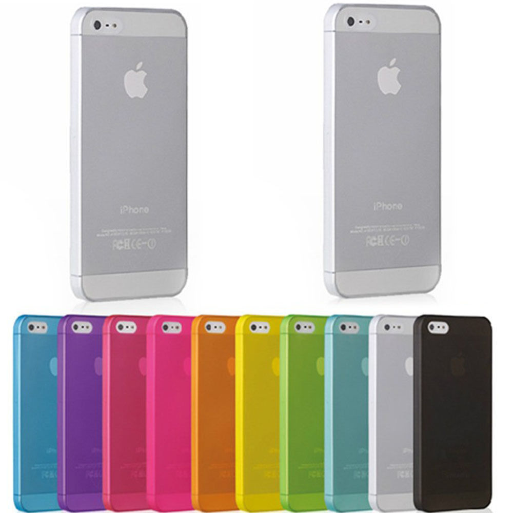 0.3mm Ultra Thin Matte Mobile Phone Bag Case for iPhone 5 5S SE 2020 6 6S 7 8 Plus 4 4S X XS Translu