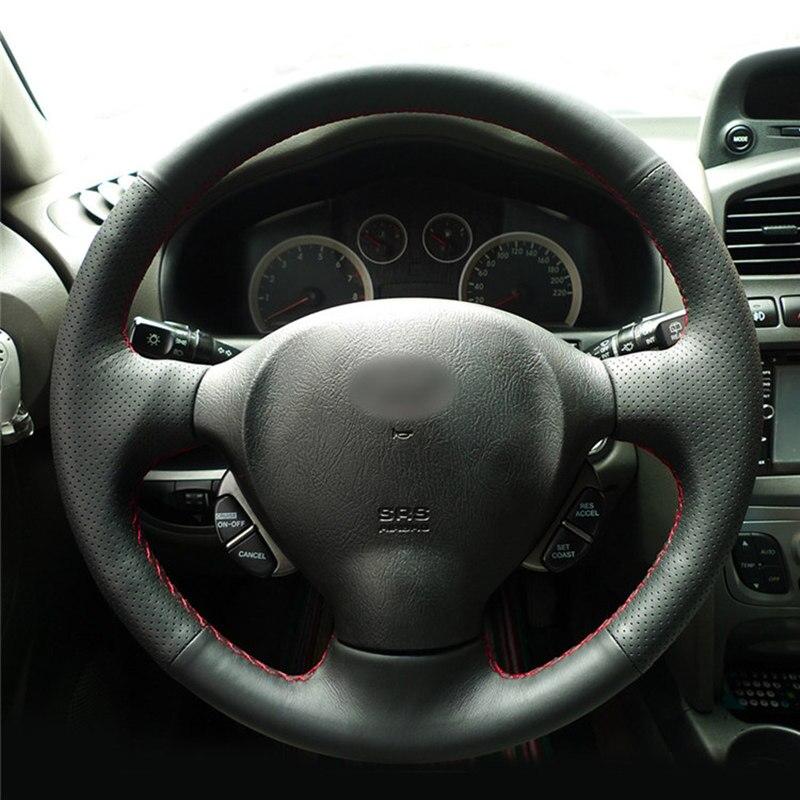 Cubierta de volante para Hyundai Santa Fe 2001 2002 2003 2004 2005 2006 viejo Hyundai Santa trenza de coche en la cubierta del volante