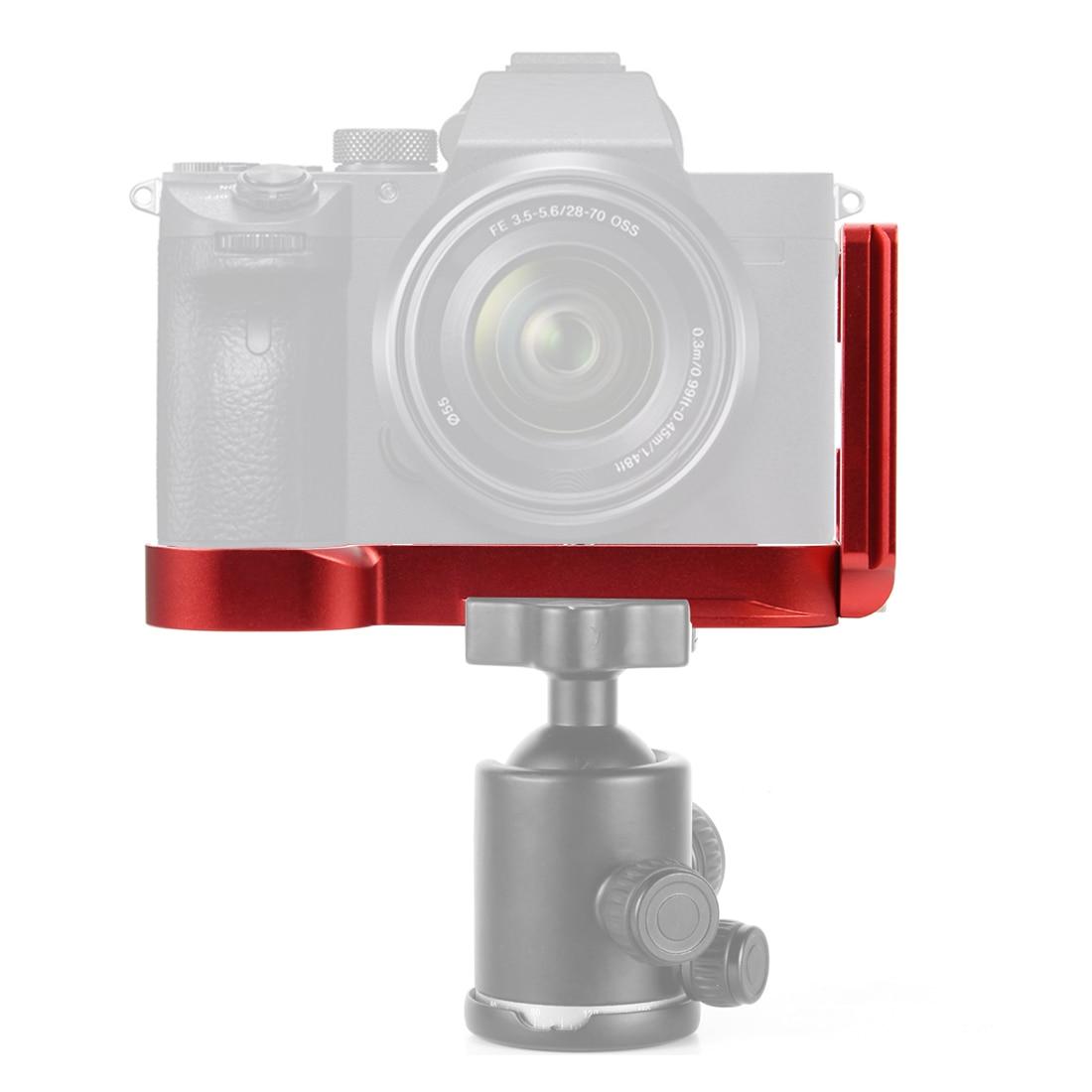 Liga de alumínio placa liberação rápida bola cabeça vertical l suporte placa adaptador suporte para sony a7 a7r arca câmera padrão