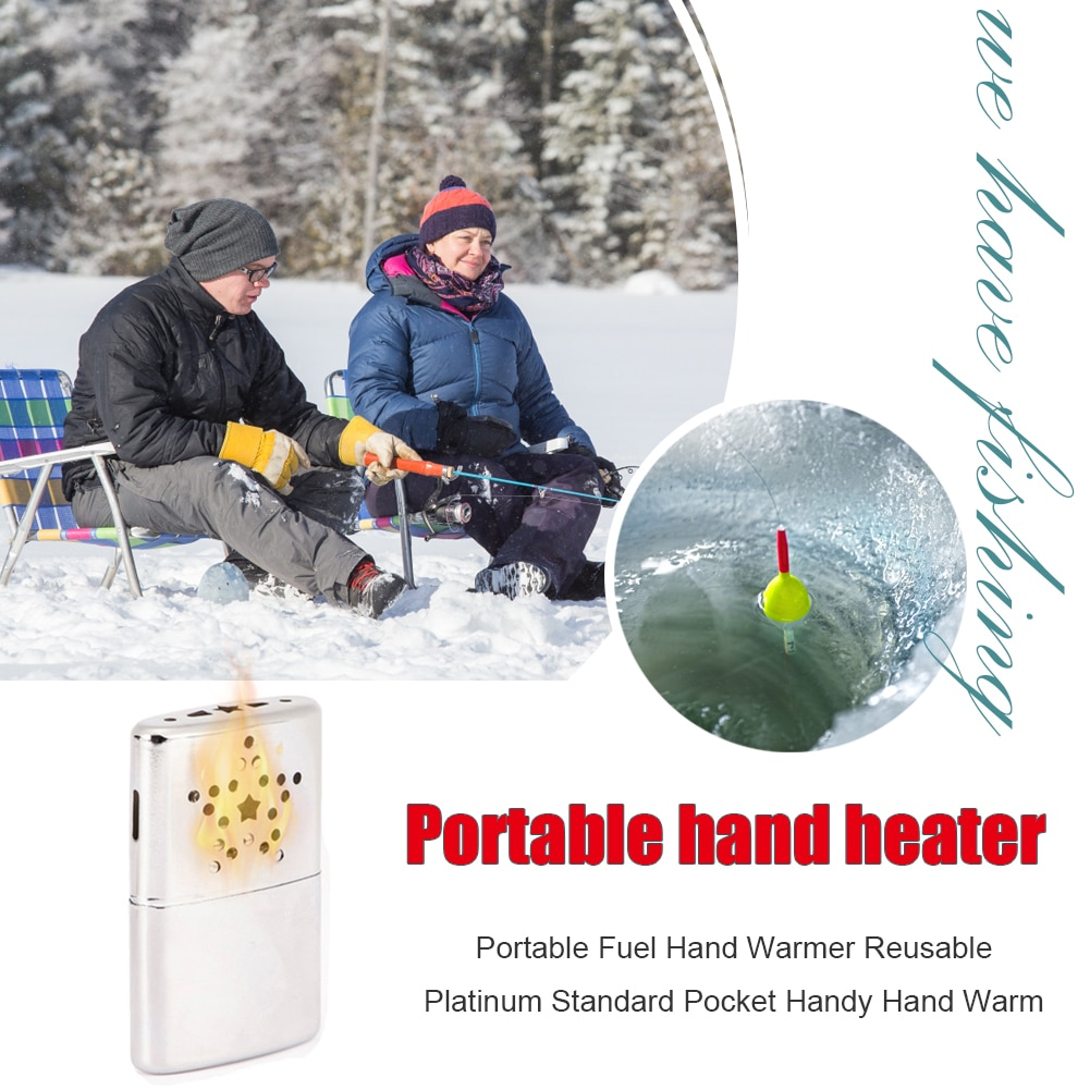 Portable Fuel Hand Warmer Winter Heater Stove for Outdoor Fishing Camping Zinc Alloy Ultralight Small Handy Pocket Heater