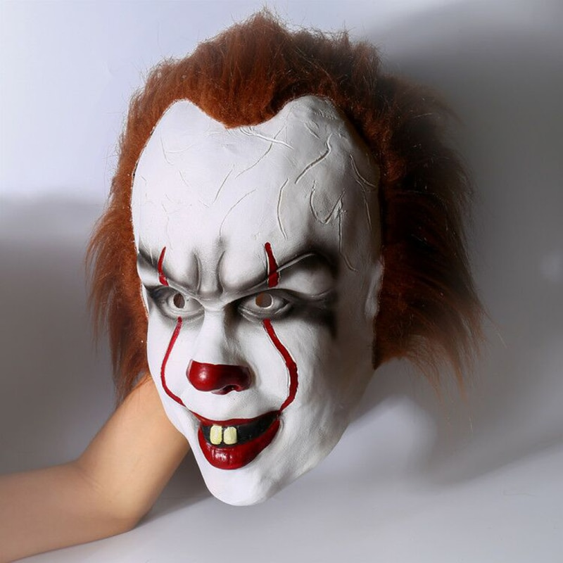 Halloween Pennywise Costume Rubber Stephen King IT 2017 Scary Clown Mask Men's Cosplay Prop Children Toy Trick or treat pennywise costume stephen king s it scary clown mask costume adult men women horror halloween pennywise the clown costume