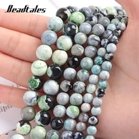 6810mm green flaming agate beads natural stone beads round loose beads for diy making bracelet necklace jewelry beadtales