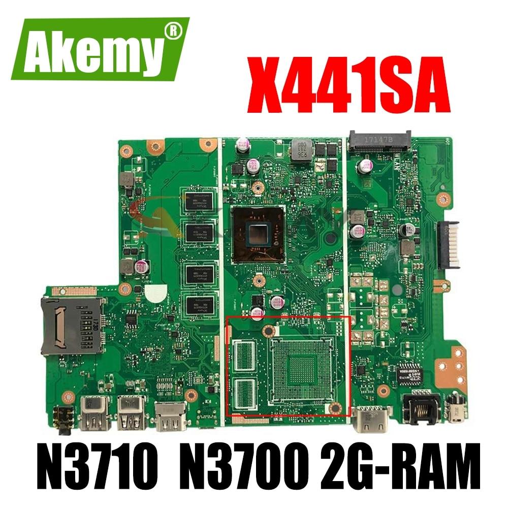 Akemy X441SA اللوحة لابتوب Asus X441SC X441S F441S A441S اللوحة W/ N3710 N3700 2G-RAM