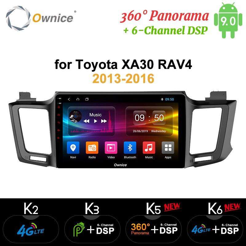 Ownice Octa Core Android9.0 автомобильный 2din радио плеер GPS для Toyota RAV4 2013 2014 2015 2016 k3 k5 k6 4G LET 360 Panorama DSP SPDIF