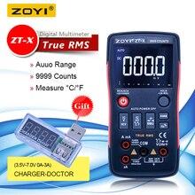 ZOYI ZT-X cyfrowy multimetr true rms woltomierz ac dc multimetr automatyczny z NCV DATA HOLD wyświetlacz lcd z podświetleniem