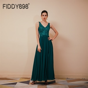 Sexy Evening Gowns Strap Backless New Elegant V Neck Slit Party Dress Luxury Formal Gown For Women Robe
