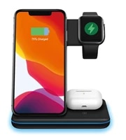 wireless charger stand 15w qi fast charging dock station for apple watch 5 for airpods pro for iphone 12 11 xs xr x 8 z5a