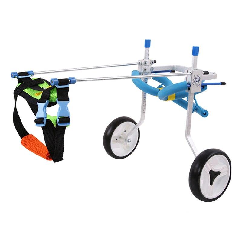 CSS 5 tipos de sillas de ruedas para mascotas para patas traseras para discapacitados gato pequeño perro/cachorro caminar acero inoxidable xxs-L