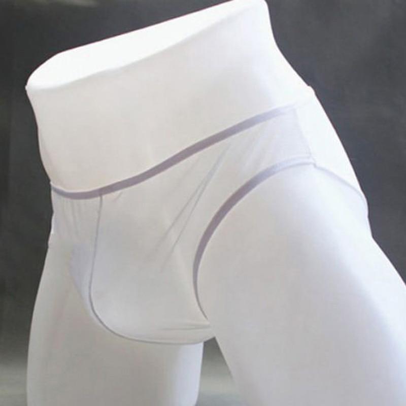 Сексуальные модные мужские прозрачные трусы, Мужские дышащие трусы, мужское прозрачное Сетчатое нижнее белье с заниженной талией