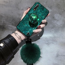 ALLCHW For Samsung A10 A20 A30 A50 A70 A7 2018 A6Plus A8Plu DIY crystal holder Stand+Fur Ball+Strap Phone case Glitter TPU Coque