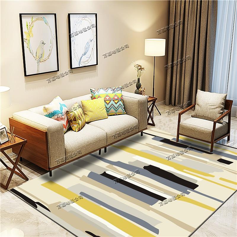 الشمال سجادة غرفة معيشة أريكة و طاولة شاي حصيرة بسيطة الحديثة نوم السرير الحصير الكامل للمنزل غرفة لطيف
