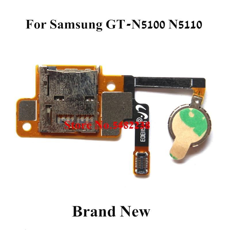 Zócalo con ranura para tarjeta sim Original del sostenedor del flex cable fpc para la placa de la cinta flexible del lector de la tarjeta Sim de Samsung N5110 N5100 con el vibrador