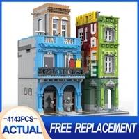 new moc modular building 10182 hotel cuba compatible city 4143pcs blocks bricks educational toy gifts