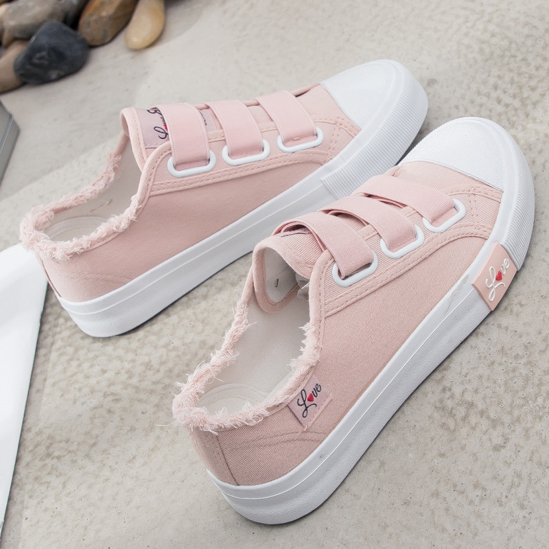 2021 Women Canvas Light Sneakers Ladies Shoes Vulcanize Sport Soft Casual Retro Basic Breathable Spr