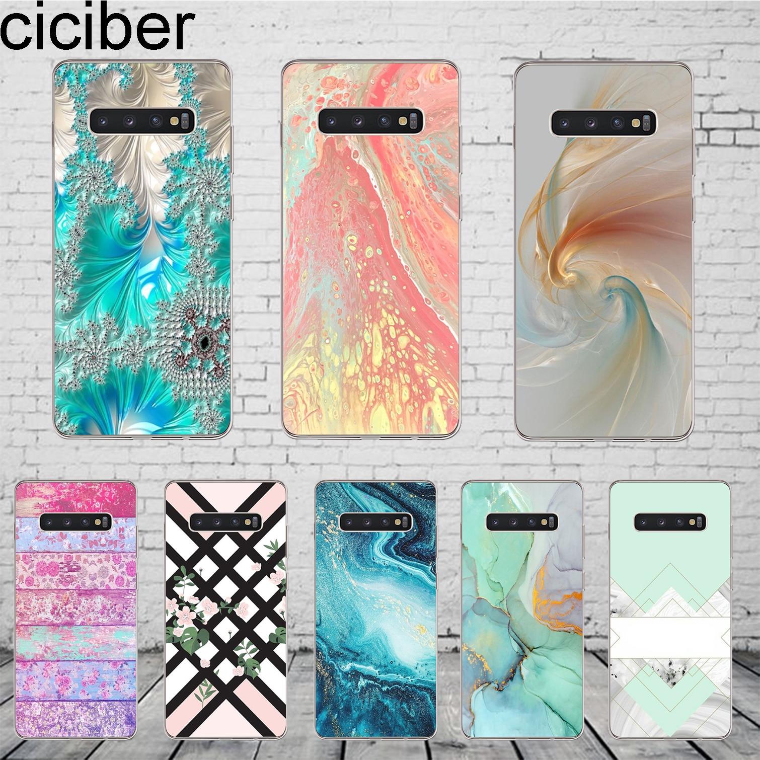 ciciber Fashion Marble Cover For Samsung Galaxy S9 S8 S5 S7 S6 S10+ S10e Lite Plus Edge mini Phone Case Soft TPU Shell Fundas