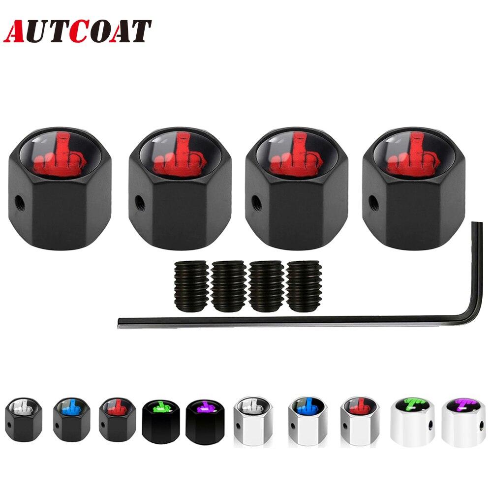 Колпачки клапанов шин AUTCOAT (5 шт./компл.), универсальные противоугонные колпачки из цинкового сплава для автомобиля, грузовика, мотоцикла