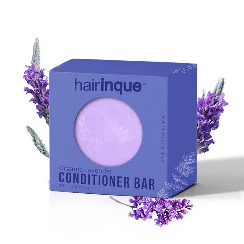 Barra de acondicionador de lavanda hecha a mano orgánica acondicionador de cabello sólido jabón nutritivo alisado hacer cuidado del cabello brillante